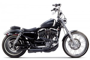 WYDECH TWO BROTHERS Harley Davidson Sportster 04-13 Comp-S 2-1 Ceramic Black