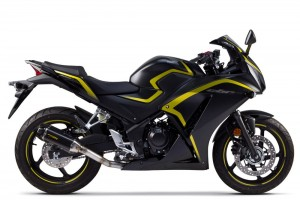 WYDECH TWO BROTHERS HONDA CBR300R / CB300F 15- Tarmac Slip-On Exhaust System - Carbon Fiber